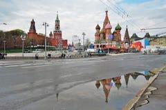 劳动节庆祝在莫斯科 图库摄影