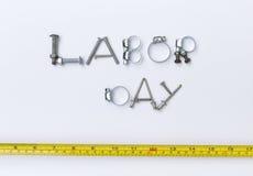 劳动节标志设计 免版税图库摄影