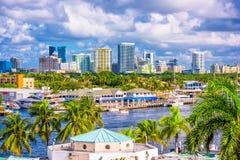 劳德代尔堡佛罗里达地平线 免版税图库摄影