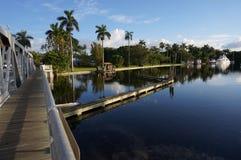 劳德代尔堡运河 库存照片