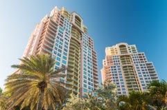 劳德代尔堡,佛罗里达大厦  免版税库存照片