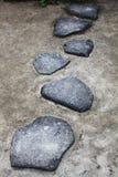 劳特石头小径 库存照片