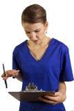 劳累过度的医生或护士 免版税库存图片