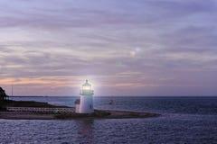 勃兰特点光灯塔,南塔克特,马萨诸塞,美国 免版税库存照片