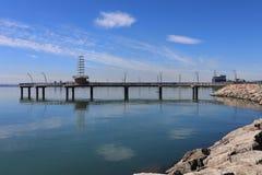 勃兰特St码头在伯灵屯,加拿大 库存照片