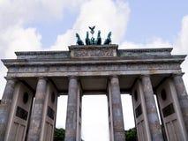 勃兰登堡门是柏林` s多数著名地标 柏林和德国分裂的标志在冷战期间 图库摄影