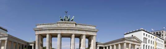 勃兰登堡门是柏林` s多数著名地标 柏林和德国分裂的标志在冷战期间 免版税库存图片
