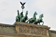 勃兰登堡门顶层 免版税库存照片
