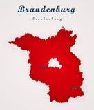 勃兰登堡德国艺术地图 免版税库存照片