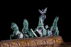 勃兰登堡门彩色视图  库存图片