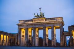 勃兰登堡门,德国 库存图片