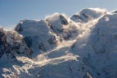勃朗峰和其他锐化 库存图片