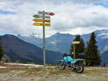 勃朗峰在列斯Houches,法国 库存图片