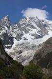 勃朗峰山顶 库存照片