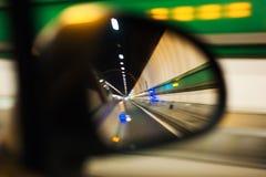 勃朗峰隧道路 库存图片