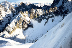 勃朗峰Mountian,夏慕尼法国 库存照片