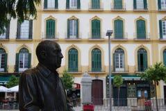 巴勃罗・毕卡索雕象在马拉加西班牙 库存照片