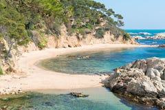 勇敢的海岸(肋前缘Brava) -希罗纳(西班牙) 免版税库存照片
