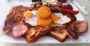 勇敢那些的真正的诚实的英式早餐 免版税库存照片