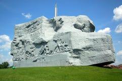 勇气纪念品在布雷斯特堡垒 图库摄影