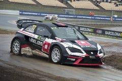 勒内Muennich 巴塞罗那FIA世界Rallycross冠军 免版税库存照片