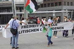 巴勒斯坦人反对以色列_FREE BILAL的进行的抗议 免版税库存图片