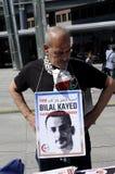 巴勒斯坦人反对以色列_FREE BILAL的进行的抗议 免版税图库摄影