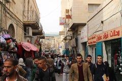 年轻巴勒斯坦人在伯利恒 免版税库存照片