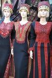巴勒斯坦妇女衣物 免版税库存图片