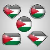 巴勒斯坦旗子象 向量例证