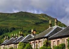 勒斯村庄,在苏格兰 库存图片