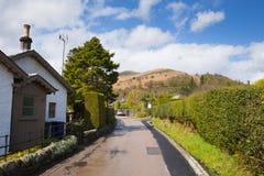 勒斯村庄洛蒙德湖苏格兰英国 库存照片
