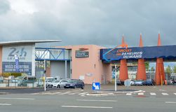 勒芒,法国- 2017年4月30日:汽车博物馆24个小时勒芒电路萨尔特省,卢瓦尔河地区,法国-勒芒 免版税库存图片