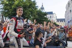 勒芒,法国- 2017年6月16日:有赛跑Oreca 07吉布森的成龙DC队的托马斯劳伦特法国飞行员 种族2的优胜者 图库摄影