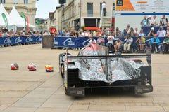 勒芒,法国- 2017年6月11日:赛跑Oreca 07吉布森的成龙DC赛车 2017年6月11日-称,行政和技术 库存图片
