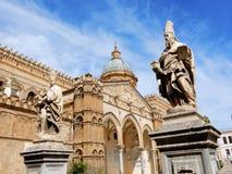 巴勒莫大教堂,巴勒莫,西西里岛,意大利天主教大主教管区的教会 免版税库存照片