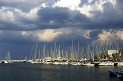 巴勒莫小游艇船坞 免版税库存照片