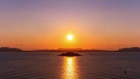 巴勒莫海湾日落 免版税库存图片