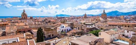 巴勒莫都市风景在意大利 库存图片