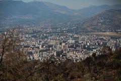巴勒莫,意大利鸟瞰图  免版税库存照片