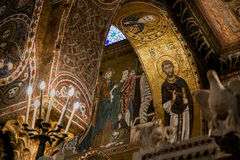 巴勒莫,意大利- 2009年10月13日:圣玛丽亚小山谷`上午教会  免版税图库摄影