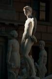 巴勒莫,意大利- 2009年10月13日:广场Preto大理石象  免版税图库摄影