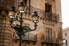 巴勒莫,意大利- 2009年10月14日:Quattro Canti,正式地kno 免版税库存图片