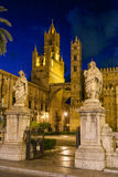巴勒莫,意大利- 2009年10月13日:R的大教堂教会 免版税库存照片
