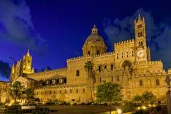 巴勒莫,意大利- 2009年10月13日:R的大教堂教会 库存照片