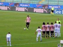巴勒莫,意大利- 2013年11月9日-美国Citta二巴勒莫对特拉帕尼Calcio -意乙 库存照片