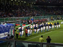 巴勒莫,意大利- 2013年, 9月06日-意大利对保加利亚-国际足球联合会2014年世界杯预选赛 库存照片