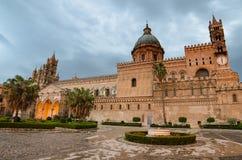 巴勒莫,西西里岛大教堂  免版税库存照片