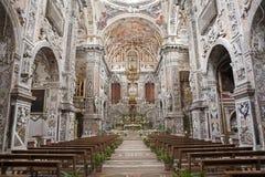 巴勒莫-巴洛克式的教会基耶萨di圣诞老人Caterina 库存图片