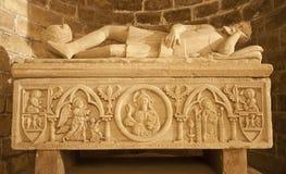 巴勒莫-从其中一个的安心在大教堂下的中世纪坟茔 免版税库存图片